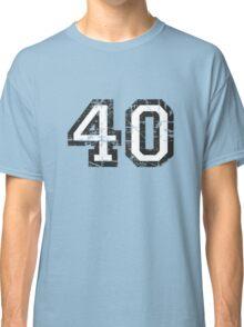 Number 40 Vintage 40th Birthday Anniversary Classic T-Shirt