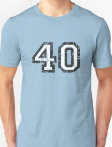Number 40 Vintage 40th Birthday Anniversary Unisex T-Shirt