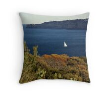 Yacht in the Heads (Sydney) Throw Pillow