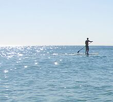 Stand Up Paddle Boarder (Gold Coast) by BGpix