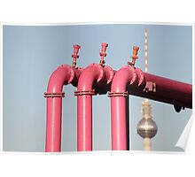 Pink Pipes Poster