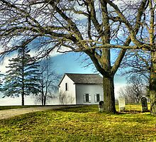 The Hauge Log Church (Est. 1852) by wiscbackroadz