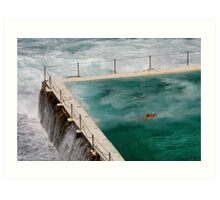 Laps at Icebergs (Bondi)  Art Print