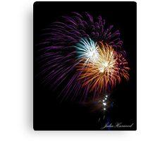 Busselton Fireworks Canvas Print