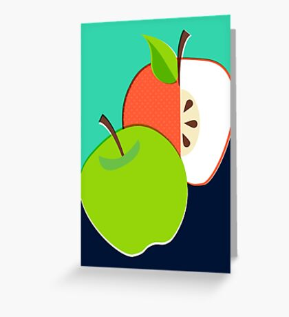 Retro Apple Greeting Card