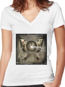 No Title 28 Women's Fitted V-Neck T-Shirt
