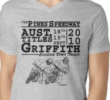 Griffith's Pines Speedway Hosts The 2010 Australian Classic Dirt Track Titles Mens V-Neck T-Shirt