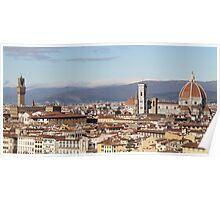 Florence Landmarks Poster