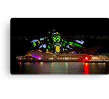 Gorilla Sails - Sydney Opera House - Sydney Vivid Festival Canvas Print