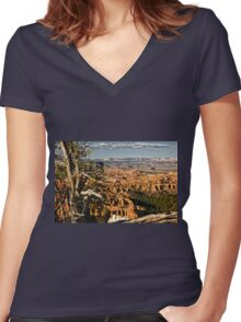 Trees Of Bryce - 3 © Women's Fitted V-Neck T-Shirt