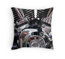 The Harley Davidson Engine Throw Pillow