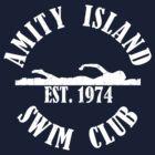 Amity Island Swim Club White by AngryMongo