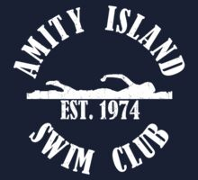 Amity Island Swim Club White by AngryMongo