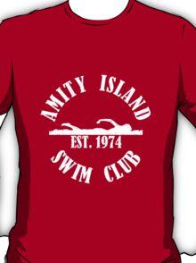 Amity Island Swim Club White T-Shirt