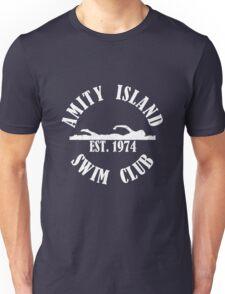 Amity Island Swim Club White Unisex T-Shirt