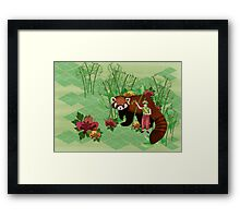 Red Panda Friend Framed Print
