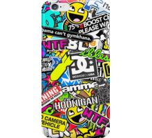 Stickerbomb apparal  JDM/EUROSTYLE iPhone Case/Skin