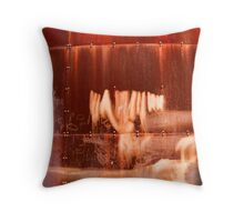 Rusty container Throw Pillow