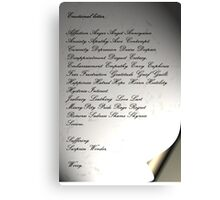 The Emotional Letter Canvas Print