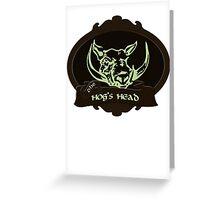 Hog's Head Greeting Card