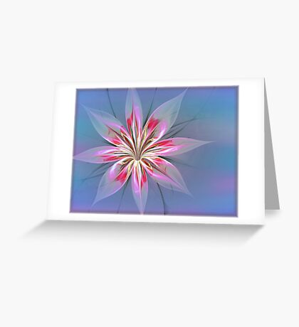 Flower Delights in Blue Greeting Card