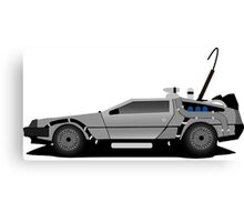 The DeLorean Time Machine, Back to the Future Canvas Print