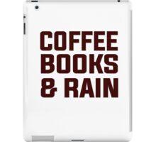 Coffee books & rain iPad Case/Skin