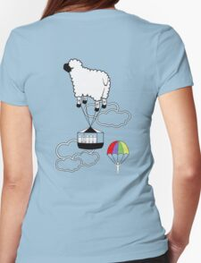 Jump the Sheep Ship. Womens Fitted T-Shirt