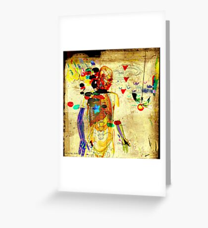 love and gravity Greeting Card