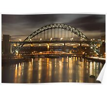 Dusk over the Tyne Poster