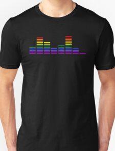 Rainbow Sound Bars Unisex T-Shirt