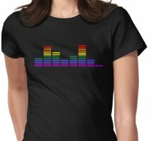 Rainbow Sound Bars Womens Fitted T-Shirt