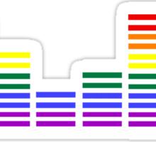 Rainbow Sound Bars Sticker