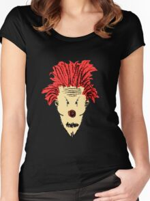 Evil Clown Hand Draw Illustration Women's Fitted Scoop T-Shirt
