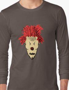 Evil Clown Hand Draw Illustration Long Sleeve T-Shirt