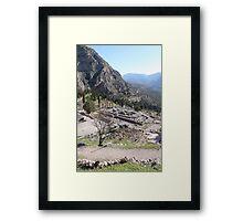 Navel Framed Print