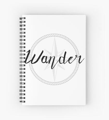 Wander - compass Spiral Notebook