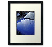 sky blue car Framed Print