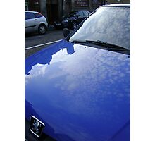 sky blue car Photographic Print