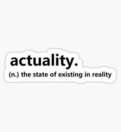 Dictionary Collection - Actuality Sticker