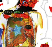 love and gravity Sticker