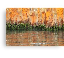 Rusted Sea Wall Canvas Print