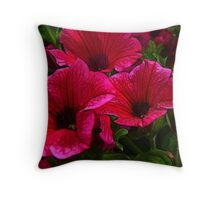 Fractalius Petunias Throw Pillow