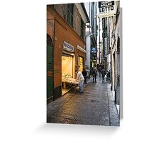 Alleys of Genoa 3 Greeting Card