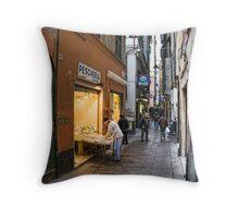 Alleys of Genoa 3 Throw Pillow