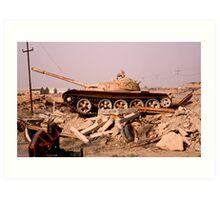 Last Iraqi Tank   Art Print