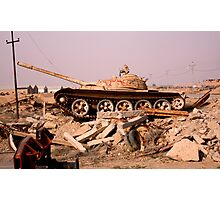Last Iraqi Tank   Photographic Print