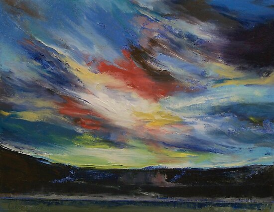 Indian Sunset by Michael Creese