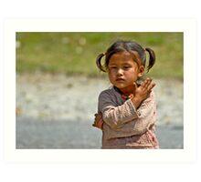 Nepali little girl Art Print