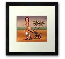 Bad doggie! Framed Print